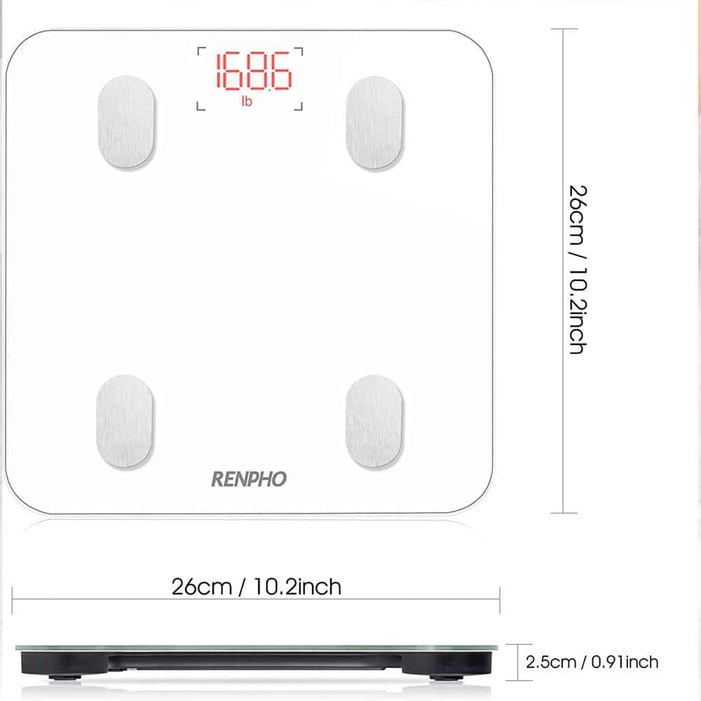 dimensions-Pèse-Personne-Bluetooth-Balance-Salle-de-Bains-topifive